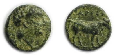 Ancient Coins - Larissa Phriconis; Aeolis