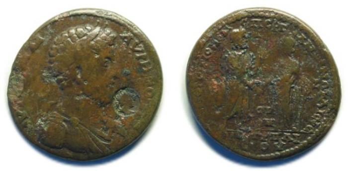 Ancient Coins - Pergamum and Ephesus, Homonoia; Commodus