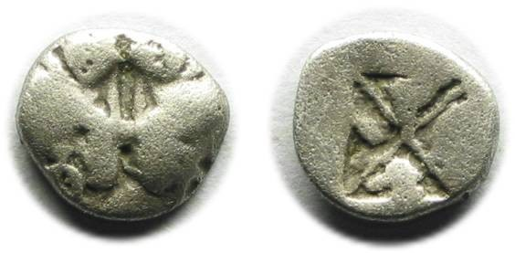 Ancient Coins - Lesbos; silver coin