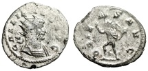 "Ancient Coins - Gallienus Silvered Antoninianus ""ORIENS AVG Sol / Cuirassed Bust Type"" RIC 249"