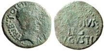 "Ancient Coins - Augustus AE As ""P CARISIVS LEG AVGVSTI in Three Lines"" Spain, Emerita RIC 19 Rare"