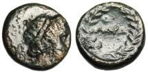 """Ancient Coins - Uncertain Mint (Adramytion?) AE11 """"Apollo & Ethnic in Wreath"""" Extremely Rare"""