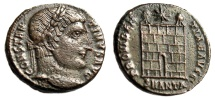 """Ancient Coins - Constantine I The Great AE3 """"PROVIDENTIAE AVGG Campgate"""" Antioch RIC 81 Rare gVF"""