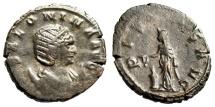 "Ancient Coins - Salonina AE Antoninianus ""PIETAS AVG Pietas at Altar"" Siscia RIC 79 VF"
