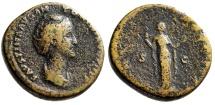 "Ancient Coins - Faustina I Senior AE Sestertius ""VERNI AVGVSTAE Venus, Apple"" Rome RIC 1081 aF"
