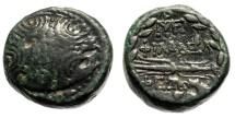 "Ancient Coins - Lydia, Philadelphia AE14 ""Macedonian Shield & Thunderbolt in Wreath"" Good Fine"