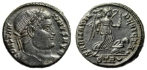 "Ancient Coins - Constantine I The Great AE3 ""SARMATIA DEVICTA Victory Spurning Captive"" Trier EF"