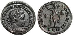"""Ancient Coins - Constantine I The Great AE Follis """"SOLI INVICTO COMITI Sol"""" London RIC 282 aEF"""