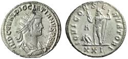 "Ancient Coins - Diocletian Fully Silvered Antoninianus ""Jupiter Eagle"" Siscia RIC 267 Scarce nEF"
