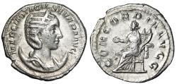 """Ancient Coins - Otacilia Severa (Wife of Philip I) AR Antoninianus """"Portrait & Concordia"""" gVF"""