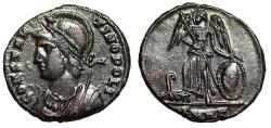 """Ancient Coins - Constantinople City Commemorative """"Victory on Prow"""" Heraclea RIC 115 Good VF"""