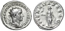 "Ancient Coins - Trebonianus Gallus AR Antoninianus ""AETERNITAS AVG Eternity & Phoenix"" VF"