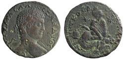 "Ancient Coins - Severus Alexander AE33 of Edessa ""Laureate Portrait & Tyche, Stars, Altar"" Rare"