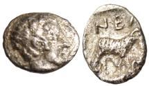 """Ancient Coins - Troas, Neandria Silver Obol """"Apollo & Ram"""" 4th Century BC VF Scarce"""