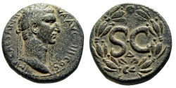 """Ancient Coins - Nerva AE28 """"SC, Delta in Wreath"""" Syria, Antioch Mint 97 AD Attractive nVF"""
