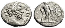 "Ancient Coins - Septimius Severus AR Denarius ""HERCVLI DEFENS Hercules"" Rome RIC 79 VF"