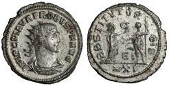 "Ancient Coins - Probus Silvered Antoninianus ""RESTITVT ORBIS Crown"" Antioch RIC 925 gVF"