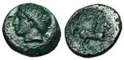 "Ancient Coins - Philip II Of Macedon AE19 ""Apollo Left & Horseman"" 359-336 BC Green Patina"
