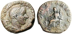 "Ancient Coins - Gordian III AE Sestertius ""FORTVNA REDVX Fortuna Luck"" RIC 331a"