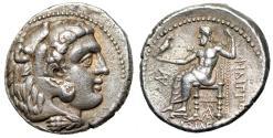 "Ancient Coins - Seleukid Kingdom: Seleukos I Nikator AR Tetradrachm ""Herakles & Zeus"" Good VF"