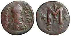 "Ancient Coins - Anastasius I AE Follis 35mm ""Portrait & Large M, Cross & Stars"" Constantinople"