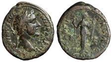 """Ancient Coins - Antoninus Pius AE As """"Felicitas, Caduceus & Cornucopiae"""" Rome 148-149 AD"""