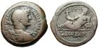 "Ancient Coins - Hadrian AE Drachm Egypt, Alexandria ""Nilus Reclining Left, Hippo"" Year 12 Scarce"