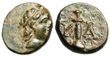 "Ancient Coins - Caria, Kaunos AE12 ""Apollo & Sword in Sheath"" BMC 17 Rare nEF"