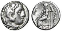 "Ancient Coins - Alexander III The Great AR Drachm ""Herakles & Zeus, Star Throne"" Miletos VF"