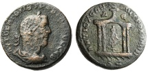 "Ancient Coins - Trebonianus Gallus AE31 ""Tyche Seated in Temple"" Syria Antioch"