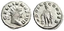 """Ancient Coins - Gallienus AR Antoninianus """"APOLLO CONSER Apollo, Olive Branch"""" Milan RIC 468"""