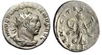 "Gallienus AR Antoninianus ""FELICITAS SAECVLI Diana, Torch"" Antioch RIC 291 EF"