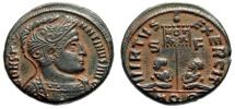 "Ancient Coins - Constantine I The Great ""VIRTVS EXERCIT Captves, VOT XX"" Aquileia RIC 48 Desert Patina gVF"