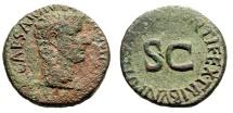 "Ancient Coins - Tiberius as Caesar AE28 ""PONTIFEX TRIBVN POTESTATE XII SC"" RIC 469 10 AD Rare"
