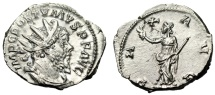 """Ancient Coins - Postumus Silver Antoninianus """"PAX AVG Pax With Branch"""" Colonia Agrippina EF"""