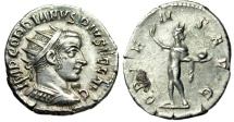 "Ancient Coins - Gordian III Silver Antoninianus ""ORIENS AVG Sol"" Antioch Mint RIC 213 EF"