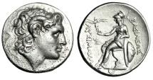 "Ancient Coins - King of Thrace: Lysimachos AR Tetradrachm ""Alexander Horned & Zeus Crescent"" nEF"