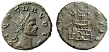 "Ancient Coins - Divus Claudius II Gothicus Posthumous Ant. ""Funeral Pyre, Statues"" RIC 256 Rare"