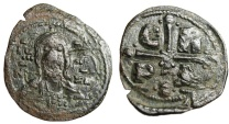 "Ancient Coins - Romanus IV Diogenes AE Follis ""Facing Christ & CR PD in Cross"" Scarce"