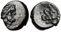 "Ancient Coins - Mysia, Adramytion AE17 ""Zeus & Forepart of Pegasos"" Scarce 4th Century BC"