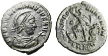 """Ancient Coins - Valentinian II AE2 """"Emperor on Galley"""" Cyzicus RIC Unlisted B Officina Rare"""