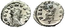 """Ancient Coins - Gallienus AE Antoninianus """"FELICIT PVBL Felicitas Seated"""" Rome RIC 192 gVF"""