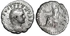 """Ancient Coins - Titus AR Denarius of Antioch """"Concordia"""" RIC 1560 Rare Fine"""