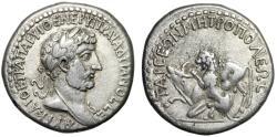 "Ancient Coins - Hadrian AR Tridrachm ""Lion Attacking Bull"" Cilicia Tarsus (Tarsos) About VF"