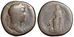 "Ancient Coins - Hadrian AE Sestertius ""Portrait & Providentia"" Rome RIC 772 VG"