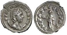 """Ancient Coins - Otacilia Severa Empress Silver AR Antoninianus """"Pietas"""" 248-249 AD gVF Nice Tone"""