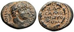 "Ancient Coins - Hadrian AE20 ""FLA XAMO MHTRO KOM in Wreath"" Commagene Samosata VF Scarce"