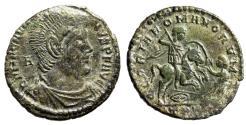 "Ancient Coins - Magnentius Centenionalis ""GLORIA ROMANORVM Horseback, Spearing Enemy"" Trier VF"