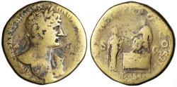 "Ancient Coins - Hadrian AE Sestertius ""Liberty Restored Scene"" Rome 119-120 AD RIC 236"