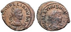 "Ancient Coins - Aurelian & Vabalathus AE Antoninianus ""Portraits"" Antioch RIC 381 gVF"